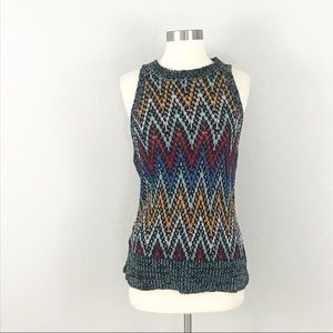 White + Warren Womens Small Sweater Top Open Knit